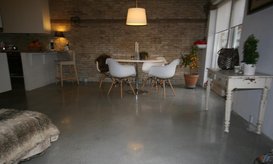 Poleret beton - polerede betongulve - polering af beton